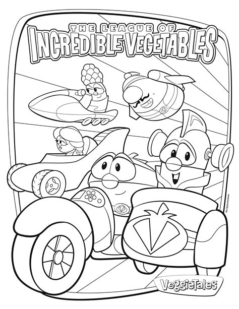 free veggietales coloring page my style pinterest