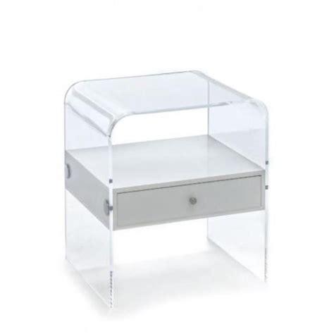 Table De Nuit Transparente by Table De Chevet En Plexiglas Acrylique Transparent Table