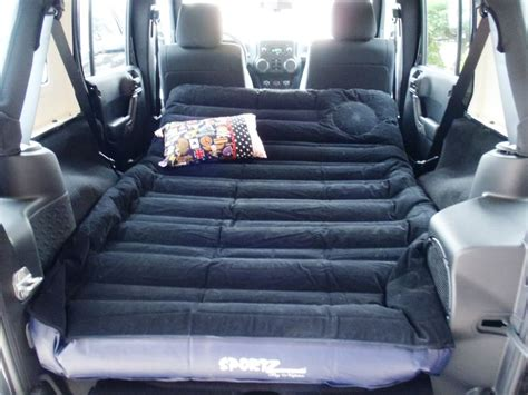 back of a jeep sportz air mattress for the back of a jeep wrangler