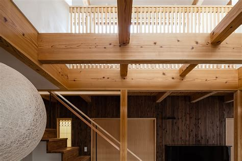 Wood Grid Ceiling by Traditional Japanese Elements Meet Modern Design At The