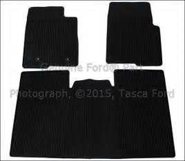 Floor Mats For 2010 Ford F150 Supercrew New Oem 3 All Weather Black Vinyl Floor Mats 2010