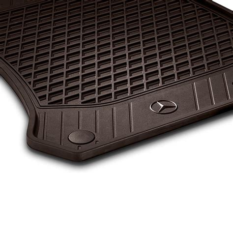 Mercedes Mats rubber floor mats espresso brown 2 glc x253 genuine mercedes