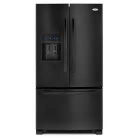 Shop whirlpool gold 25 5 cu ft french door refrigerator black energy