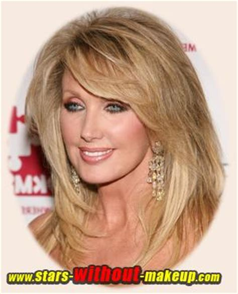 should women over 60 wear bangs how to wear long hair over 60 morgan fairchild without