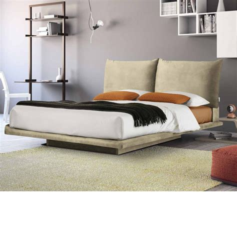 bed with soft headboard regolo soft upholstered double bed with reclining headboard