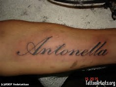 Melany Name Tattoo