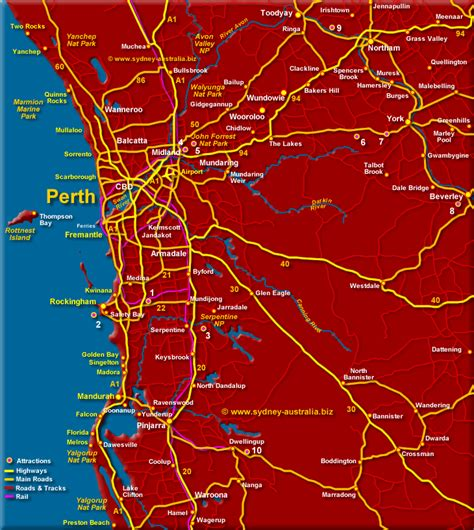 map of australia and surrounds greater perth surrounds map wa