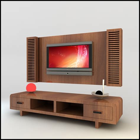modern tv wall 3d model modern tv wall unit