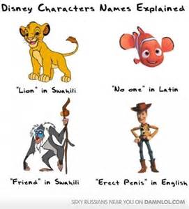 Disney characters names explained jokes memes amp pictures