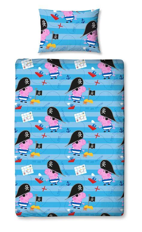 Peppa Pig George Duvet Set Peppa Pig George Pirate Single Duvet Quilt Cover