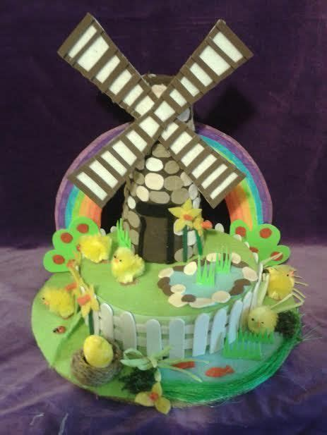 Handmade Easter Hats - windmill handmade easter bonnet hat boys handmade