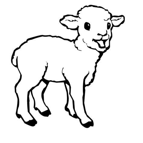 small sheep coloring page baby lamb clip art clipart panda free clipart images