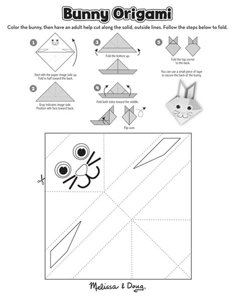 origami page origami bunny activity free printable doug