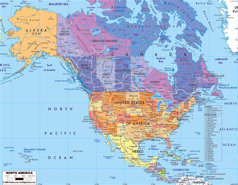 map of usa with city detail maps of north america and north american countries