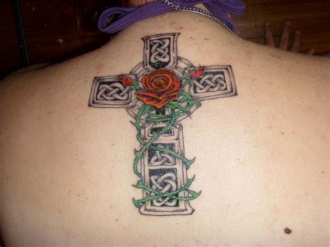 celtic cross back tattoo cross tattoos and designs page 9