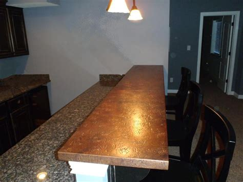 Hammered Copper Bar Top by Copper Bar Tops Kitchen Bath Bar Circle City