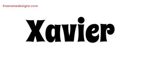xavier tattoo fonts xavier archives free name designs