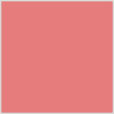 blush color code e67c7c hex color rgb 230 124 124 blush