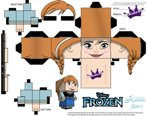 Disney Papercraft Templates - cubeecraft of from disney s animated frozen