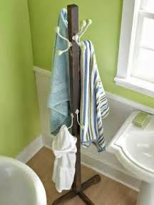 diy bathroom towel rack ideas home decor pinterest
