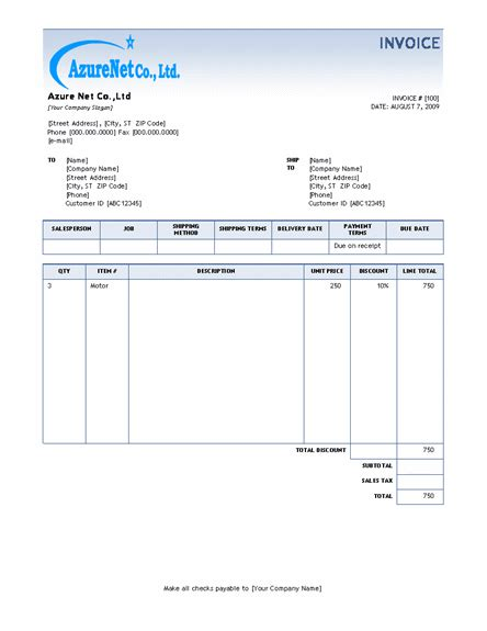 ms word template invoice microsoft word invoice template 2010 l vusashop