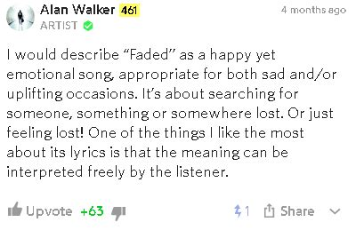 alan walker faded lirik dan terjemahan makna lirik lagu faded alan walker
