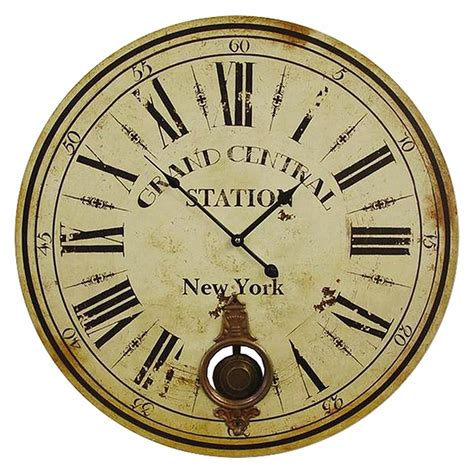 grand central station trainstation wall clock antique look