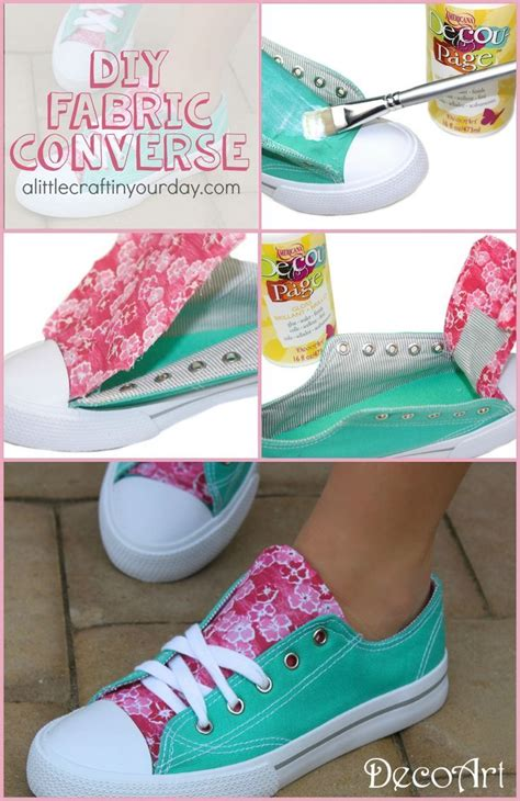 diy fabric shoes diy fabric accent sneakers fabric covered converse and