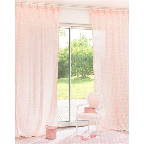 Délicieux Chambre Style Campagne Chic #7: rideau-a-nouettes-a-pois-en-coton-rose-105-x-250-cm-1000-2-22-135322_9.jpg