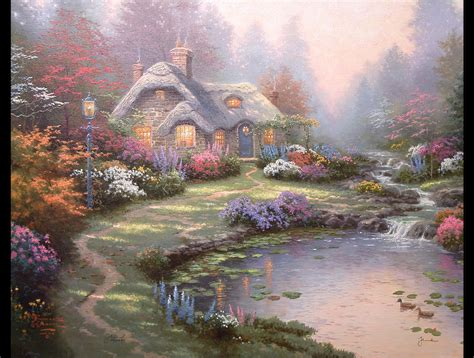 kinkade cottage the gallery for gt kinkade paintings cottage