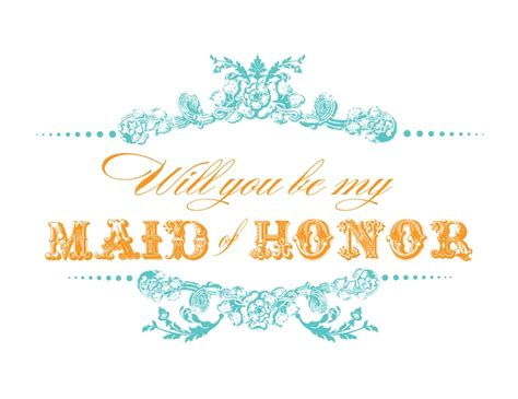 will you be my of honor template free printable will you be my bridesmaid cards