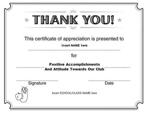 thank you certificate template word 30 free certificate of appreciation templates and letters