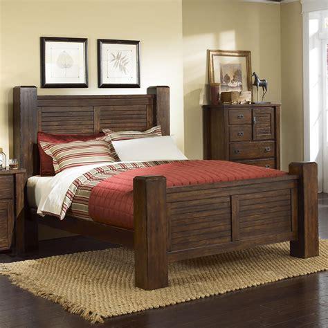 progressive trestlewood bedroom set progressive furniture trestlewood queen post bed zak s