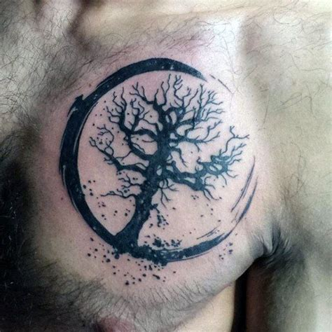 tree of life tattoo small 50 small chest tattoos for guys masculine ink design