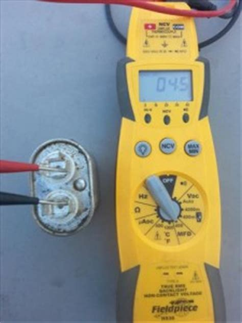testing run capacitor how to replace a condenser fan motor on a hvac refrigeration unit heat air conditioner