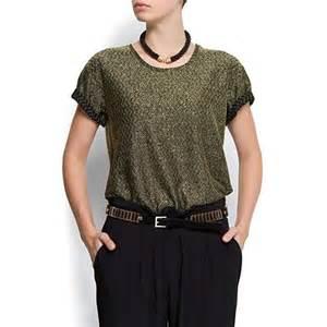 Mango clothing shiny t shirt thisnext