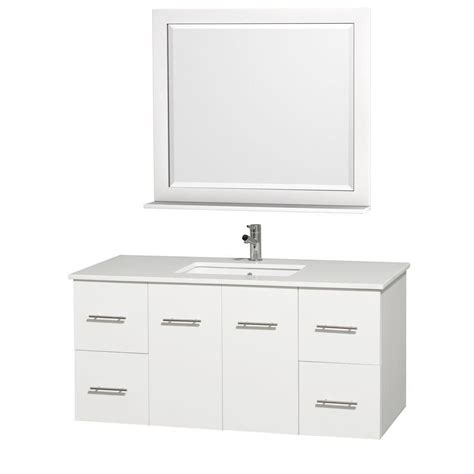 home depot 48 bathroom vanity wyndham collection centra 48 inch w vanity in white finish