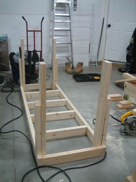 workbench leg construction  woodworking