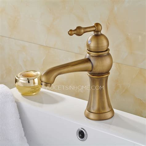 copper faucet bathroom european style antique copper brushed single bathroom