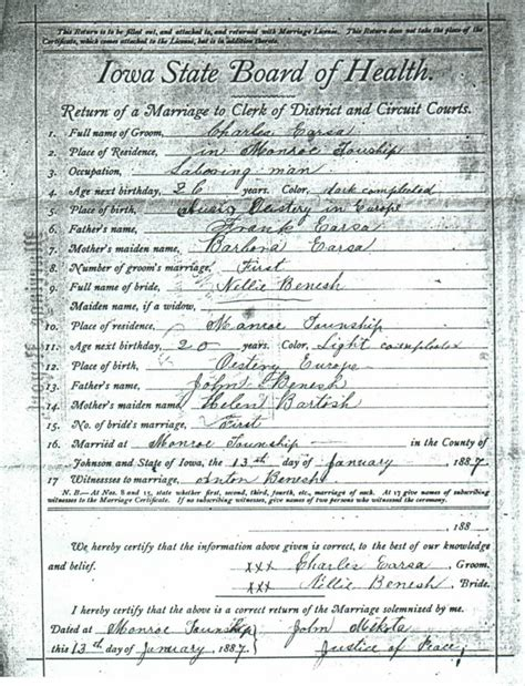 Johnson County Marriage License Records Johnson County Marriage License Index
