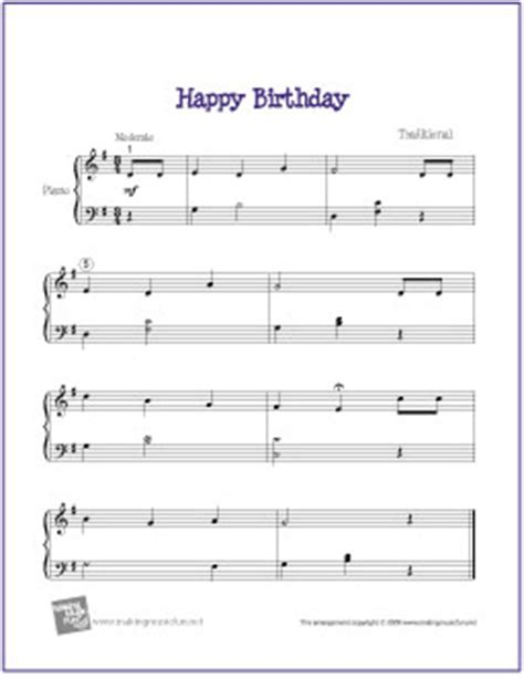 printable sheet music happy birthday happy birthday free easy piano sheet music