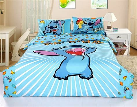 stitch bedding new 2013 disney lilo stitch bedding set 4pc queen bed cotton gift rare