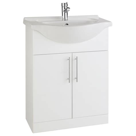 Prestige Evolve Vanity Unit 650mm Floor Mounted Bathroom Basins Vanity Units