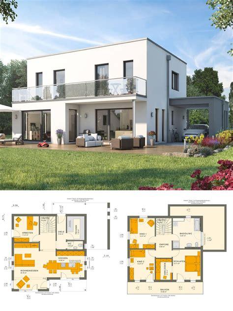 modernes design haus mit flachdach architektur