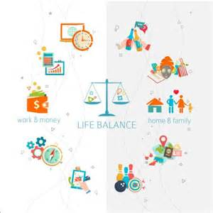 work and life balance vector template 09 vector life