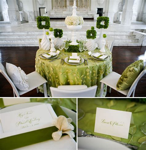 green white wedding ideas