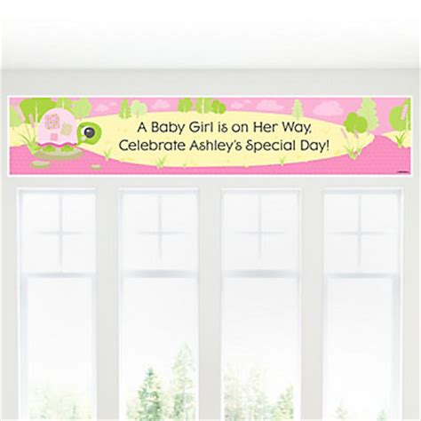 Personalized Baby Shower Banner by Pink Baby Turtle Personalized Baby Shower Banners