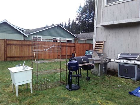 letgo outdoor bbq set up in arlington wa