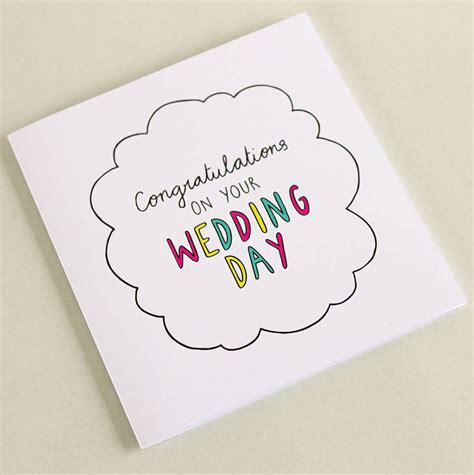 Wedding Cards by Congrats On Your Wedding Day Square Journey Card By