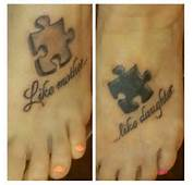Mother And Daughter Foot Tattoo